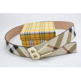 Burberry Chic Rayures Ceinture Ceinture reversible Impermeable