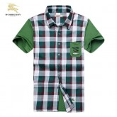Burberry Blanc Manches Courte Chemise Homme Cravate