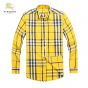 Burberry Jaune Manches Longue Chemise Homme Galeries Lafayette
