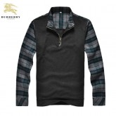 Burberry Pullover Manches Longue Col Montant Pull Homme Porte Feuille