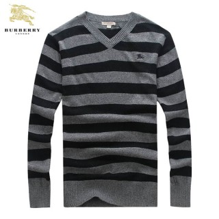 Burberry Pullover Noir Pull Homme Col V Manches Longue France