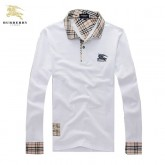 Burberry T Shirt Homme Manches Longue Blanc Polo Trench Prix