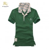 Burberry Vert Manches Courte Polo T Shirt Homme Uni Outlet Paris