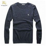 Burberry La Pull Homme Gris Pullover Manches Longue Petit Foulard