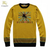 Burberry Lille Col Rond Jaune Pullover Pull Homme Manches Longue Trench Occasion