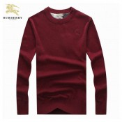 Burberry Lille Col Rond Pullover Rouge Manches Longue Pull Homme Official Website