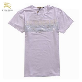 Burberry Lille Manches Courte T Shirt Homme Blanc Col Rond Uni Magasin Lyon