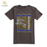 Burberry Lille Marron Col Rond T Shirt Homme Manches Courte Outlet