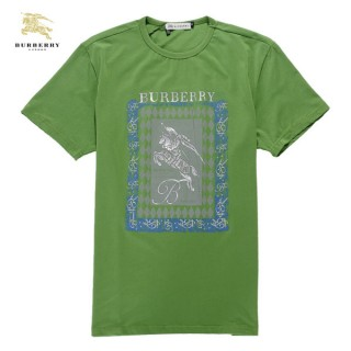 Burberry Lille Vert Col Rond T Shirt Homme Manches Courte Online