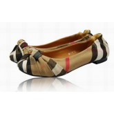 Burberry Marron Chaussure Femme Mocassin Ballerines Maquillage