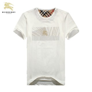 Burberry T Shirt Homme Manches Courte Blanc Col Rond Maquillage