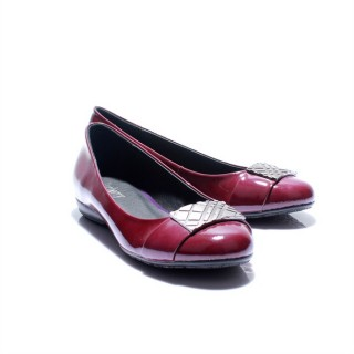 Burberry Uni Ballerines Rouge Mocassin Chaussure Femme Collection