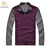 Burberry Pullover Pull Homme Manches Longue Col Montant Multicolor Occasion