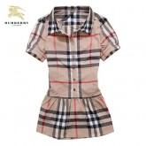 Burberry Chemise Femme Manches Courte Marron Maquillage