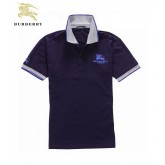Burberry Manches Courte Polo Pourpre T Shirt Homme Cravate