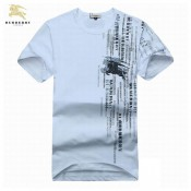 Burberry Col Rond T Shirt Homme Blanc Manches Courte Outlet Store