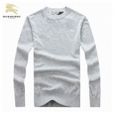 Burberry Gris Pull Homme Manches Longue Pullover Col Rond Impermeable
