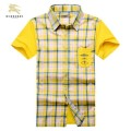 Burberry Manches Courte Blanc Chemise Homme Factory Outlet