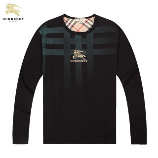 Burberry Manches Longue Col Rond T Shirt Homme Galeries Lafayette