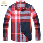 Burberry Manches Longue Chemise Homme Foulard Style