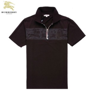 Burberry Polo T Shirt Homme Manches Courte Marron Uni Trench Soldes