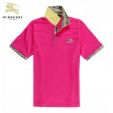 Burberry Uni Manches Courte Polo Rouge T Shirt Homme Paris Madeleine