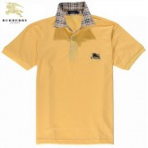 Burberry Jaune Polo Manches Courte T Shirt Homme Boutique Paris