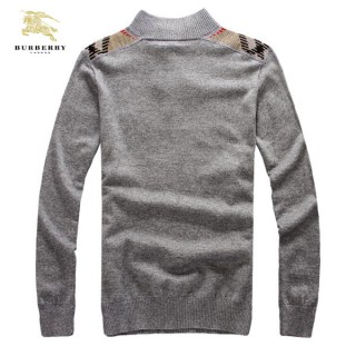 Burberry Manches Longue Pull Homme Gris Pullover Official Website