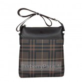 Burberry Noir Sac Homme Smoked Check Sacs à Bandoulière Magasin France