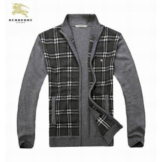 Burberry Zippe Cardigans Pull Homme Gris Manches Longue Outlet Londres