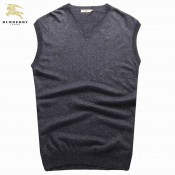 Burberry Pull Homme Gris Sans Manches Gilet Col V Ballerines