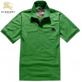 Burberry T Shirt Homme Uni Manches Courte Polo Vert Outlet Paris