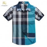 Burberry Gris Manches Courte Chemise Homme Outlet Londres