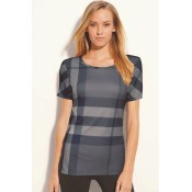 Burberry La Manches Courte T Shirt Femme Col Rond Gris Collection