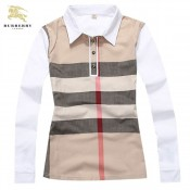 Burberry Polo T Shirt Femme Manches Longue Rayures Prix Foulard