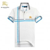 Burberry Blanc Manches Courte T Shirt Homme Polo Logo Nouvelle Collection