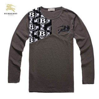 Burberry Col Rond T Shirt Homme Marron Manches Longue Montpellier