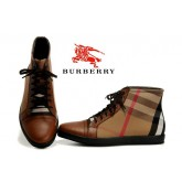 Burberry Basket Montantes Lacets Gris Chaussure Homme Fragrance