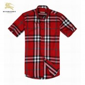 Burberry Chemise Homme Manches Courte Rouge Occasion