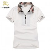 Burberry Manches Courte Uni Polo Blanc T Shirt Femme Site Officiel