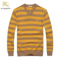 Burberry Pullover Manches Longue Col V Pull Homme Rayures Multicolor Maquillage
