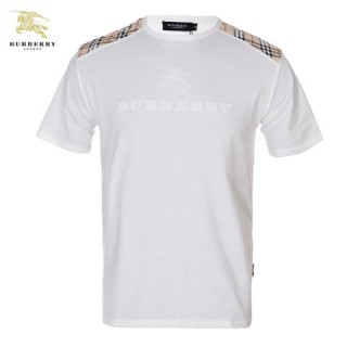 Burberry T Shirt Homme Uni Col Rond Blanc Manches Courte Magasin Marseille