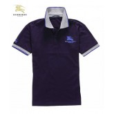 Burberry Uni Manches Courte Pourpre Polo T Shirt Homme Madeleine
