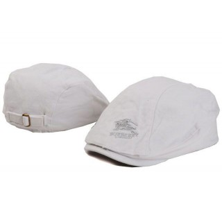 Burberry Casual Plate Berets Casquette Blanc Ballerines