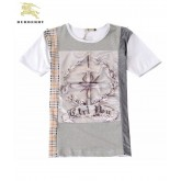 Burberry London Manches Courte Serigraphie T Shirt Homme Col Rond Multicolor Shop Online