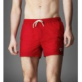 Burberry London Pantalon Homme Chic Rouge Uni Short Magasin Bordeaux