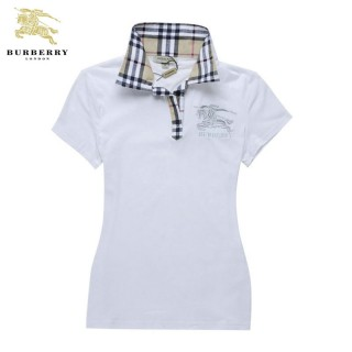 Burberry London Polo Manches Courte Blanc Uni T Shirt Femme Vente Privee