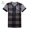 Burberry London T Shirt Homme Col V Manches Courte Logo Factory Outlet