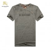 Burberry London T Shirt Homme Manches Courte Uni Gris Col Rond Fragrance