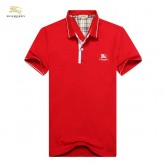 Burberry London Uni T Shirt Homme Rouge Manches Courte Polo Foulard Style